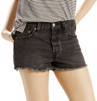 Women's Levi's 501 Ripped Jean Shorts $49.50 thestylecure.com