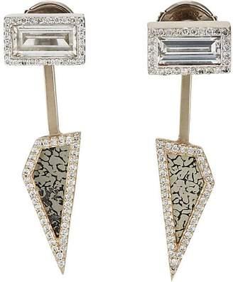 Monique Péan Women's Diamond & Pyritized Dinosaur Bone Earrings