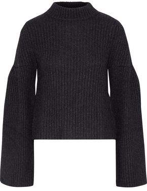 Autumn Cashmere Cropped Ribbed-Knit Sweater