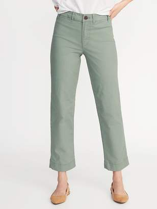 Old Navy Mid-Rise Wide-Leg Utility Chinos for Women