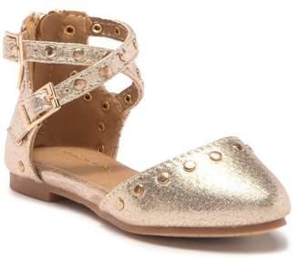 Tahari Stilly Studded Ankle Strap Flat (Toddler)