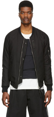 11 By Boris Bidjan Saberi Reversible Black Dont Bomber Jacket