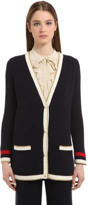 Gucci Oversized Cotton Knit Blend Cardigan