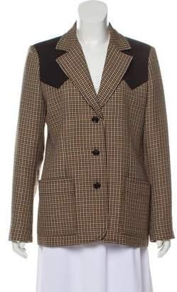 Louis Vuitton Houndstooth Wool Blazer