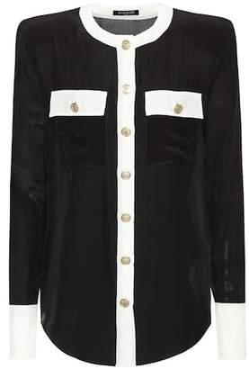 Balmain Silk-blend blouse