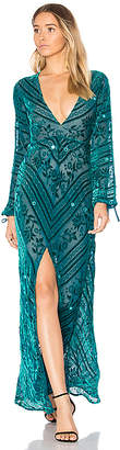 For Love & Lemons Jadore Dress in Teal $387 thestylecure.com