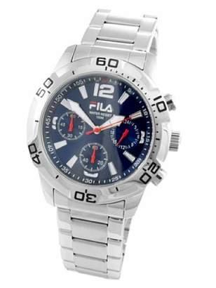 Fila Men's Quartz Watch with Black Dial Analogue Display Quartz Stainless Steel FA0996