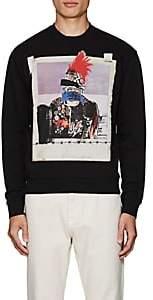 DSQUARED2 Men's Graphic-Print Cotton Fleece Sweatshirt-Black Size Xs