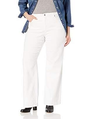 NYDJ Women's Plus Size Wide Leg Trouser Jean with Clean Hem