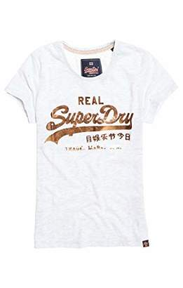 Superdry Women's's Vintage Logo Metalwork Entry T Kniited Tank Top,(Size: 12)