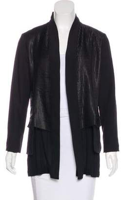 Damir Doma Pleated Wool-Paneled Jacket