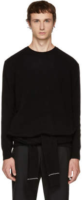 Neil Barrett Black Double Sleeve Wrap Sweater