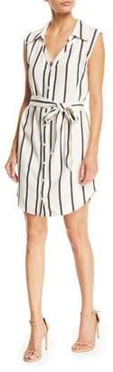 Alice + Olivia Payton Striped Button-Front Shirtdress