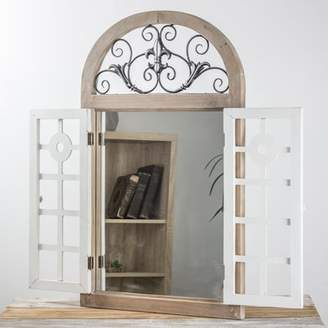 Ophelia & Co. Villareal Cathedral Arch Window Shutter Wall Mirror
