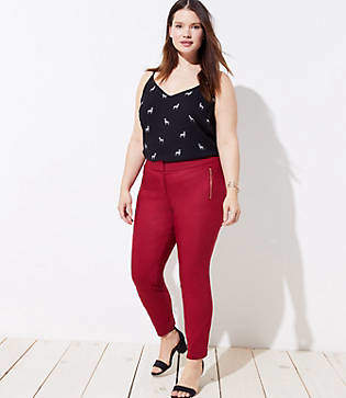 LOFT Plus Skinny Zip Pocket Pants in Marisa Fit