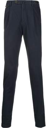 Pt01 logo buttoned high-waisted trousers