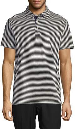 French Connection Men's Striped Cotton Polo