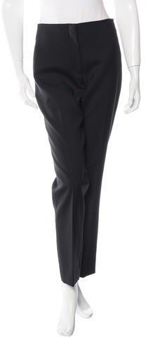 Christian Dior Wool Flat Front Pants