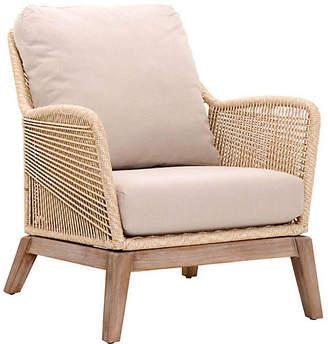 One Kings Lane Scout Club Chair - Sand/Platinum Linen