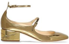 Jimmy Choo Mirrored-Leather Mary Jane Pumps
