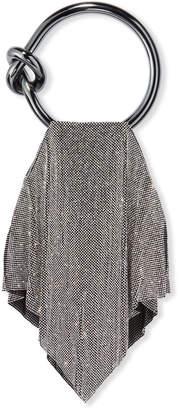Benedetta Bruzziches Casper Metal Mesh Clutch Bag, Silver