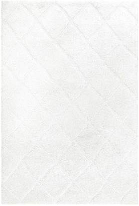 nuLoom Deloise Trellis Shag Rug - White
