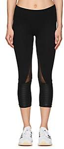 Electric Yoga WOMEN'S COTTON-BLEND CROP BIKER LEGGINGS