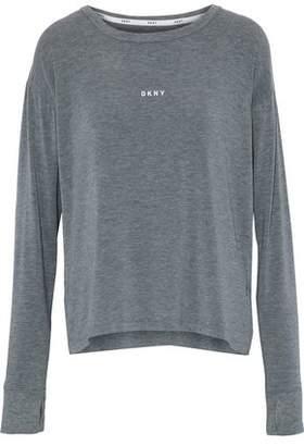 ff89c4728e DKNY Printed Stretch Modal-jersey Pajama Top