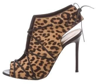 Gianvito Rossi Leopard Ponyhair Sandals