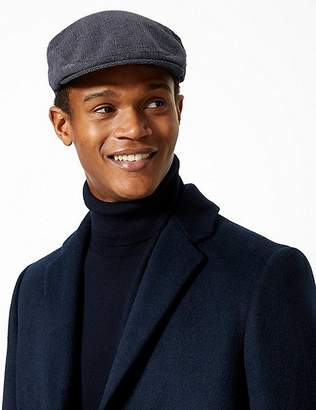 Marks and Spencer Cotton Blend Flat Cap