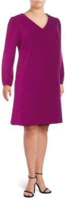 Alexia Admor Plus Bubble-Sleeve Shift Dress