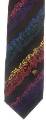 Gianni Versace Ornate Print Silk Tie