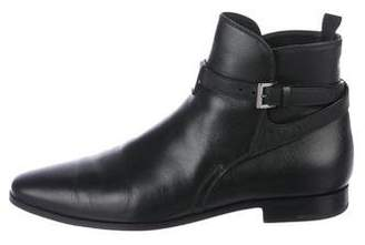 Prada Saffiano Ankle Boots