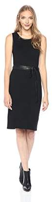 Jones New York Women's Rib Knit Dress with Leather Belt