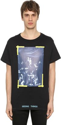 Oversize Caravaggio Print Jersey T-Shirt $293 thestylecure.com