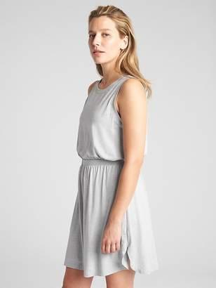 Gap GapFit Sleeveless Cut-Out Dress in Brushed Tech Jersey