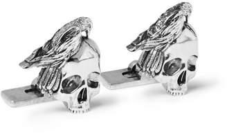 Alexander McQueen Skull Silver-Tone Cufflinks