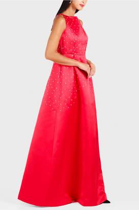 Dice Kayek Crystal Dot Embroidery Dress