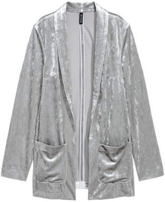 H&M Crushed velvet jacket - Gray