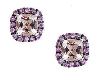 FINE JEWELRY LIMITED QUANTITIES Morganite 10K White Gold Stud Earrings