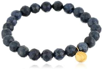 Satya Jewelry Dumorite Gold Plated Celestial Moon Stretch Bracelet