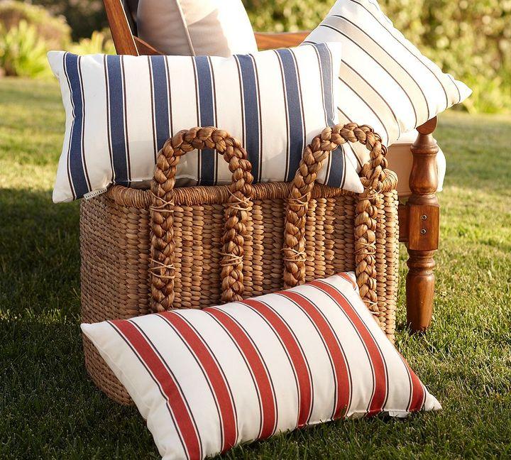 Harbor Stripe Outdoor Pillow