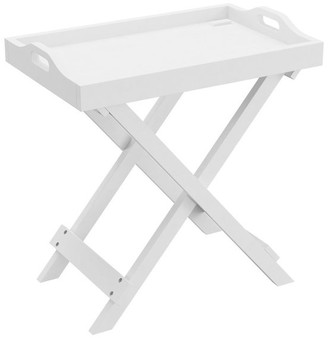 Lavish Home Folding End Table With Removable Tray Top