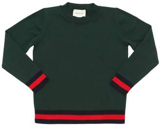Gucci Web Cotton Knit Sweater