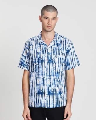 Vince Shibori Printed Cabana Short Sleeve Shirt