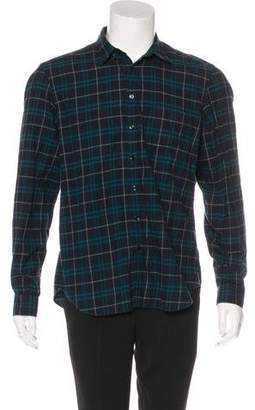 Burberry Wool-Blend Plaid Woven Shirt