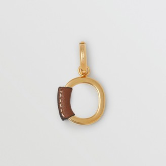 Burberry Leather-wrapped 'O' Alphabet Charm