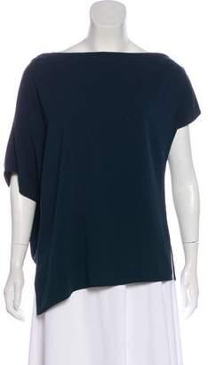 Tibi Crepe Short Sleeve Blouse