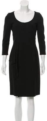 Valentino Draped Knee-Length Dress