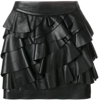 DSQUARED2 ruffle layered mini skirt